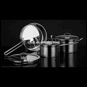 non stick pots pan stainless steel cookware set with capsule bottom