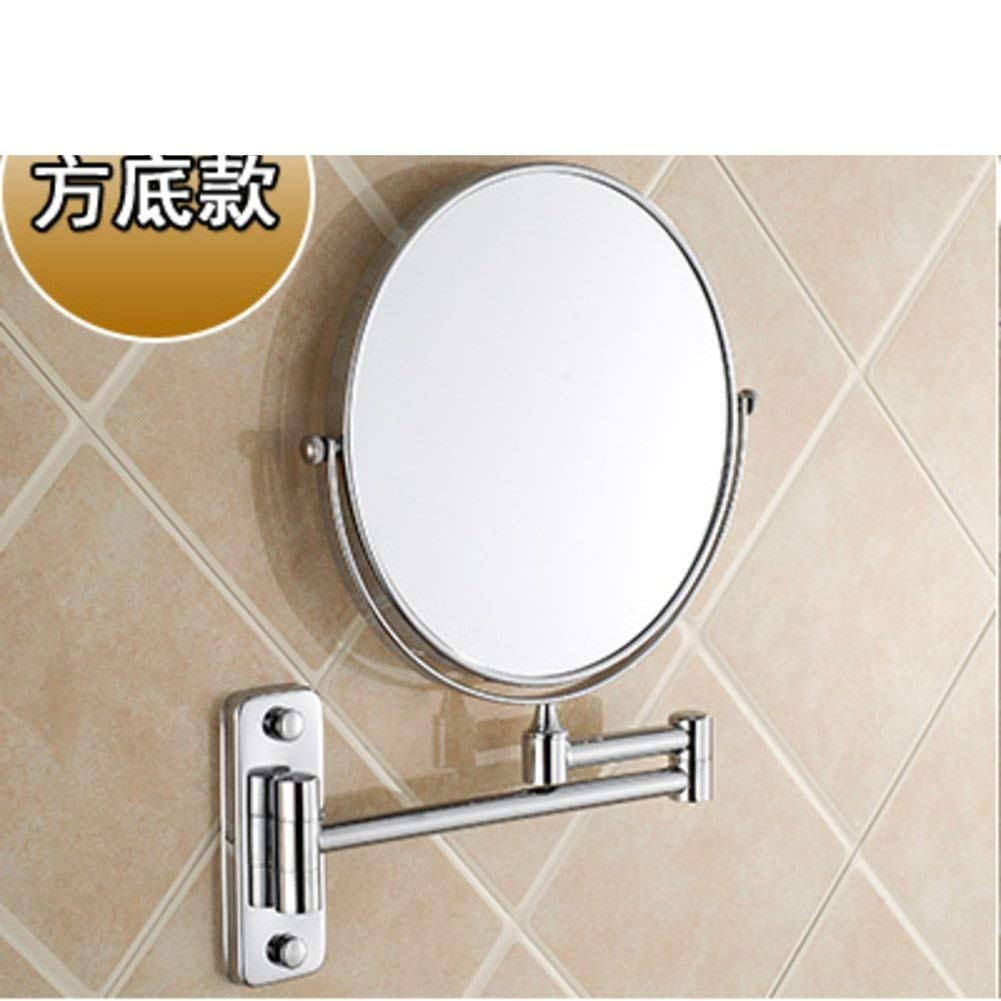 NAERFB Cosmetic mirror/bathroom walls Bathroom Mirrors Mirrors Folding telescope/Zoom Duplex dressing - E