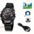 New 1080P Watch HD Hidden Video camera Built-in 8GB Watch Pinhole Spy DV Camcorder with Night Vision