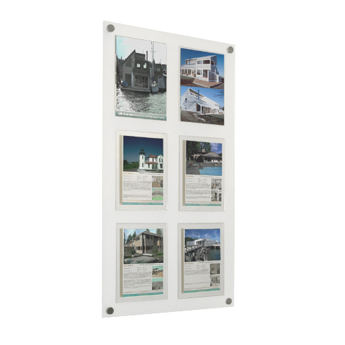 Rectangular Wall Mounted Acrylic Picture Sign Frame Holder