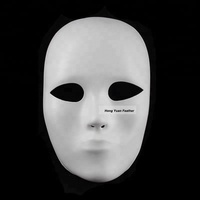 Horng Shya Factory CM-1003 Decorative White Full Face Mask For Halloween Masquerade Party Customized Plastic Face Mask