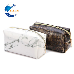 2018 New Style Fashion Marble Multi-Function Purse Box Travel Makeup Cosmetic Bag Toiletry Pencil Case