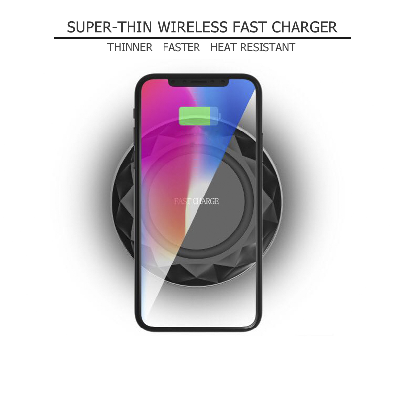 Smart LED indicated Qi universal 10w wireless qi charger for samsung galaxy j7