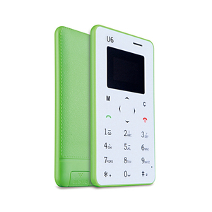 Low Price !!! iCard U6 Mini Size Ultra Thin Card Mobile Phone SIM Credit Card Size Square Shape