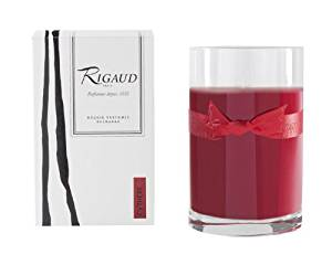Rigaud Paris, Cythere Large Candle Recharge (Refill) Bougie D'ambiance Parfumee, Grand Modele Recharge in Glass, Red, 4.5 Inches Tall, 90 Hours Burn Life