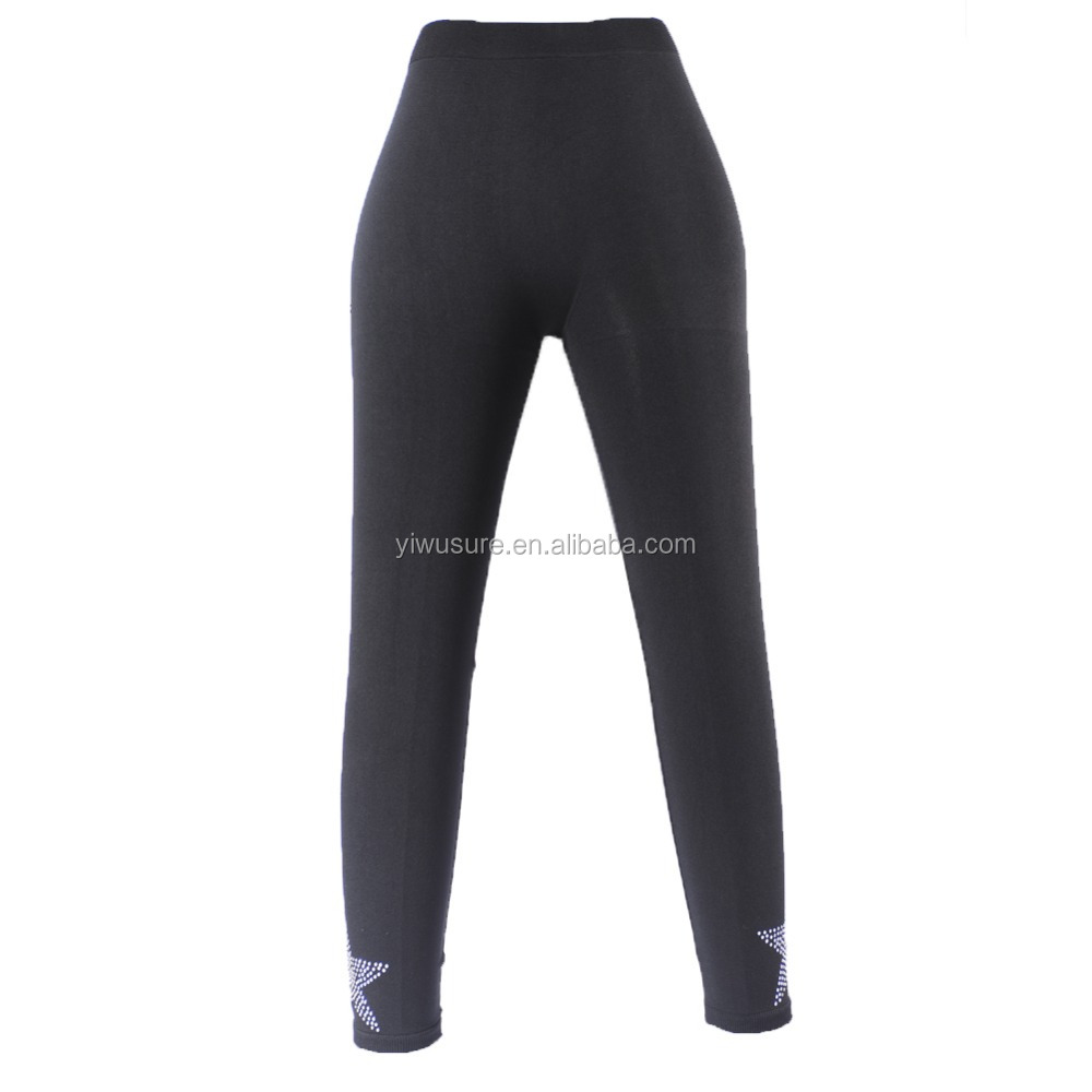 Hot Selling Wholesale Women's Seamless Nylon Legging For Ladies Women with Rhinestones