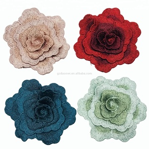 water soluble fancy hand made embroidery Rose