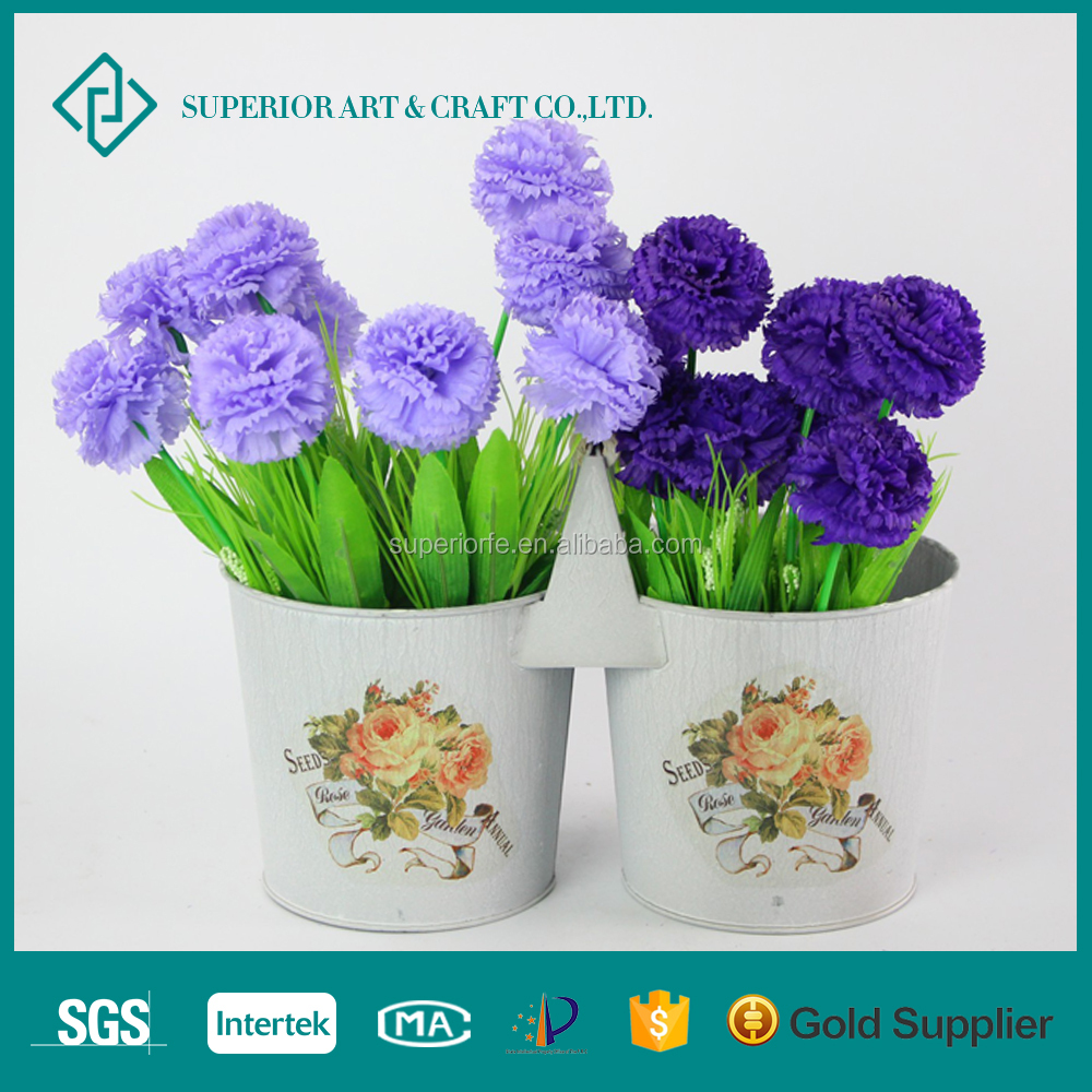 Galvanized Zinc metal flower bucket stands on sale