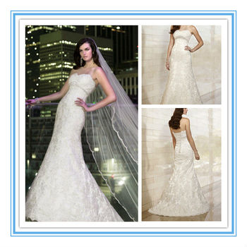 New French Style Lace Wedding Dress Empire Waist Princess Wedding ...
