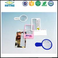 3x credit card plastic PVC fresnel lens magnifier/credit card plastic PVC fresnel magniifying glass