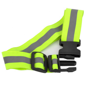 Adjustable Reflective Safety Buckle Waist Belt Band Reflectors Fluorescent Green