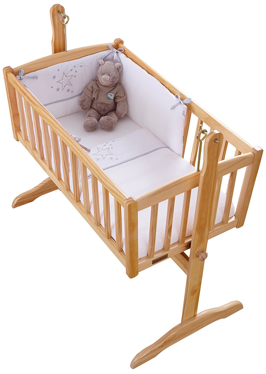 Clair de Lune - White Stardust Crib Set - 2 Piece