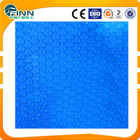 4.0mm thickness blue color vinyl bubble plastic pool cover