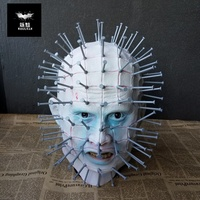 Men's Monster Horror Hellraiser III Pinhead Latex Mask Halloween Costume Accessory Halloween Decoration Party Supplies