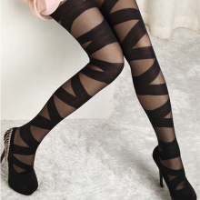 Women Sexy Pantyhose Vintage Black Ripped Stretch Leggings Stylish Pantyhose  Retail/Wholesale  61F2