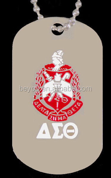 DST Greek Double Sided Delta Sigma Theta Sorority custom dog Tags logo Jewelry necklace
