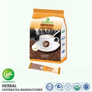 Lifeworth FDA certified organic latte ginseng coffee for coffee buyers