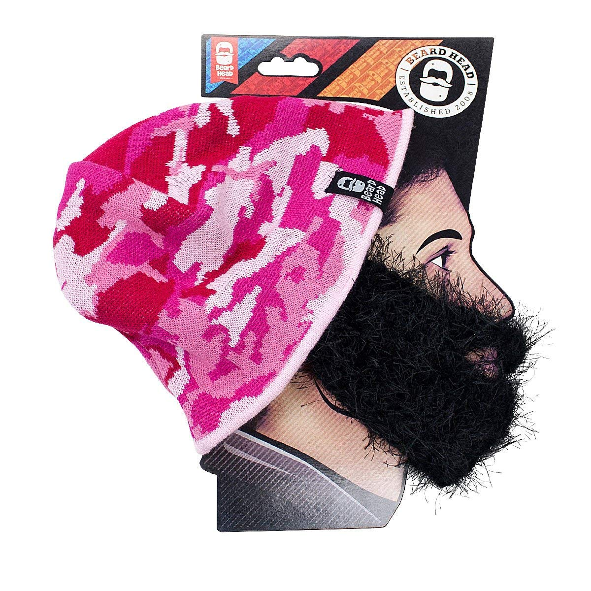 cec6dca45bb Get Quotations · Beard Head - The Original Bushy Jaye Knit Beard Beanie