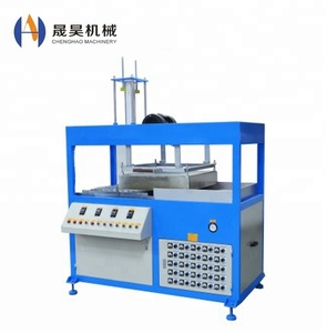 PC PETG HIPS PVCl plastic food tray Semi-auto blister forming machine for supermarket