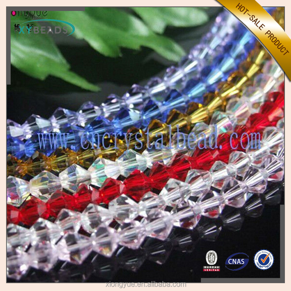 2017 High Quality 4-10MM bicone crystal glass beads