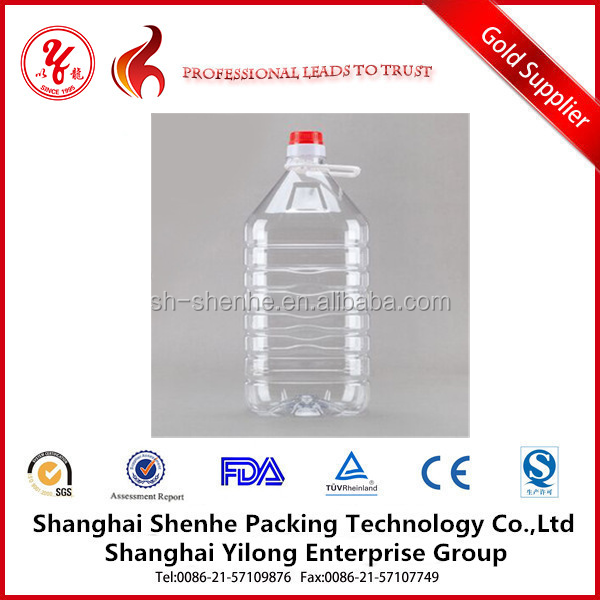 PET Plastic Type and Cooking Oil Industrial Use 2L 5L plastic bottle