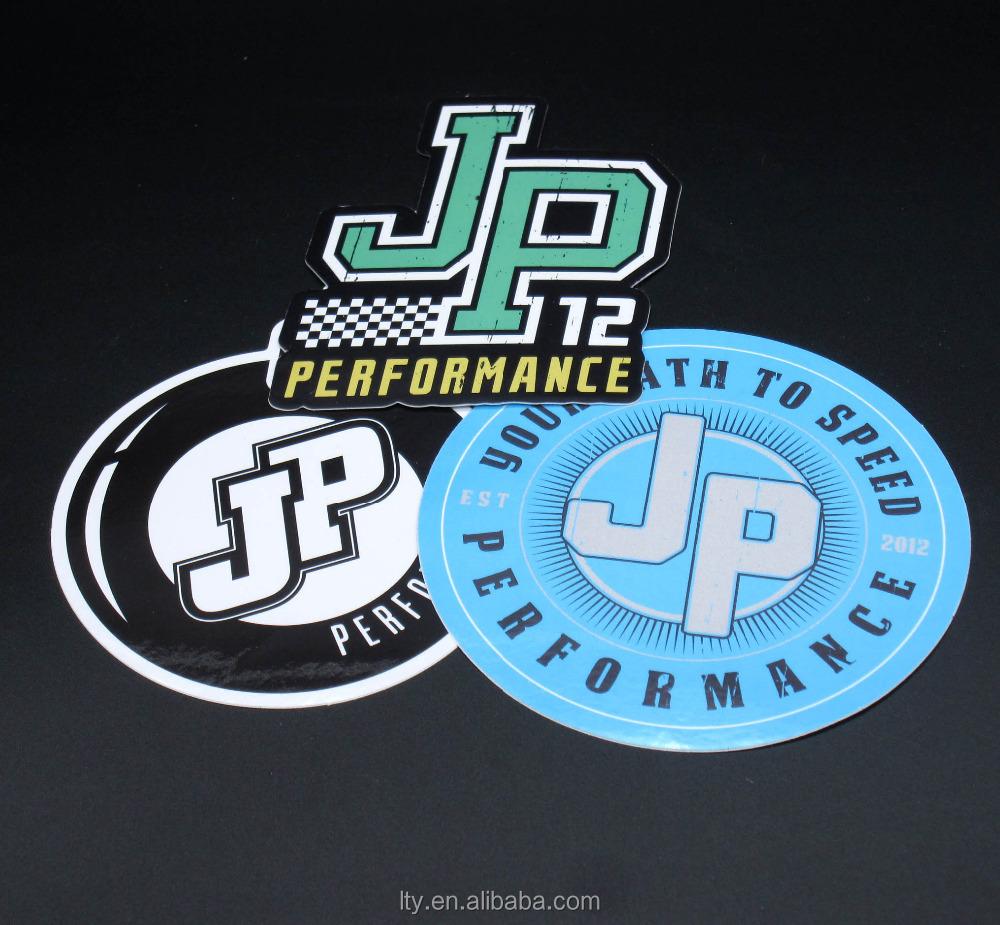 Custom printed round vinyl stickers