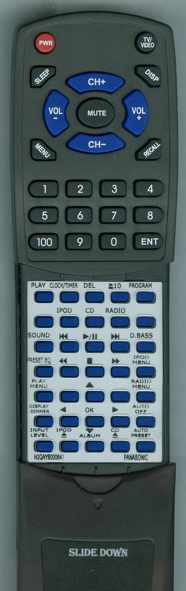 PANASONIC Replacement Remote Control for N2QAYB000641, SCHC35