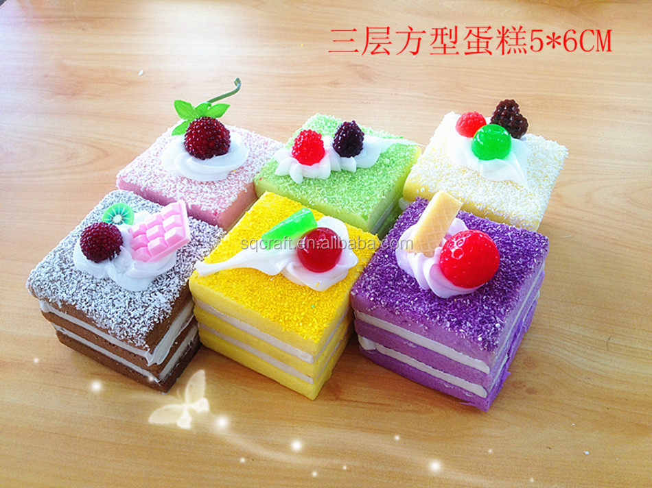 Kawaii Squishy Swiss Roll Sponge Cake With Fancy Top Phone Straps/yiwu Sanqi Craft Factory - Buy ...