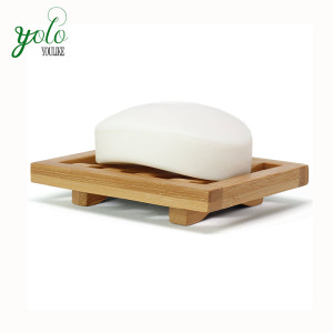 Wholesale Bath Natural Bamboo Wooden Soap Dish For Shower