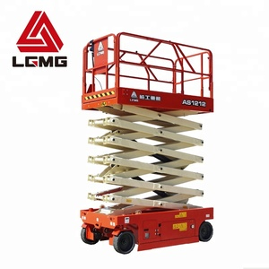 LGMG AS1212 14m lifter machine aluminum hydraulic scissor lift used