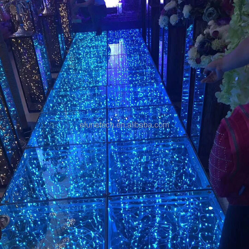 new products 2018 innovative product starlight wedding floors led glass dance floor with ce ul certificates
