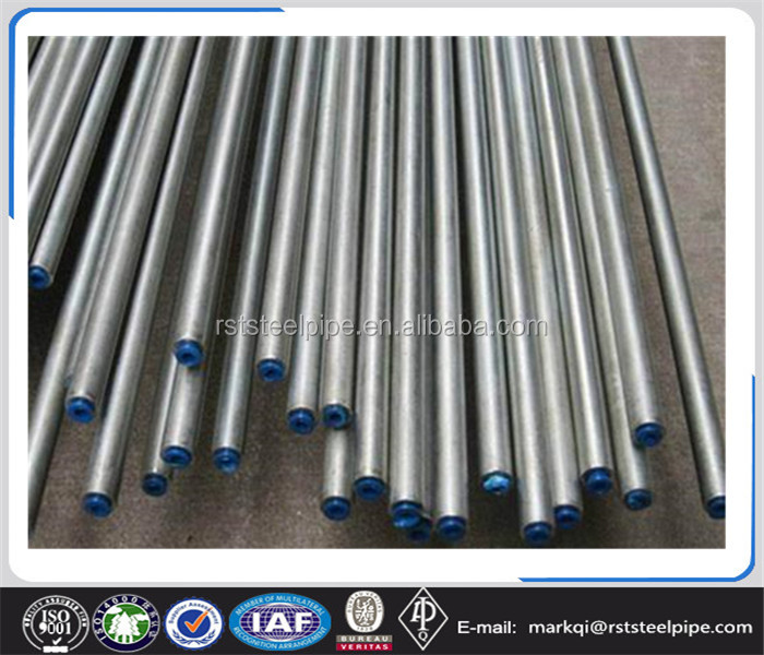 Zinc coating 60-275g GI steel pipe, galvanized steel tube for building material