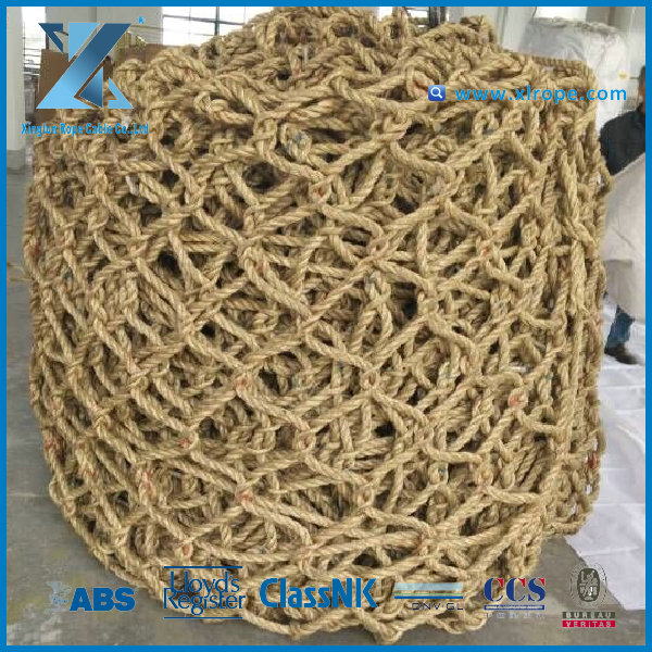3-strand Helicopter anti slip network made from sisal rope