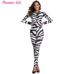 Wholesale Sexy Halloween Print Catsuit Party Fancy Sexy Cowgirl Jumpsuit Costume