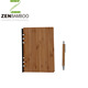 Eco friendly bamboo notebook with pen