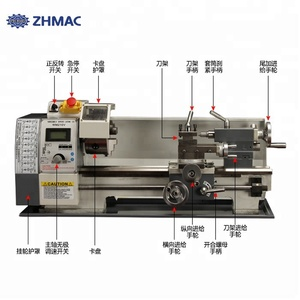 ZHMAC Manufacturer directly supply mini metal lathe projects with high quality