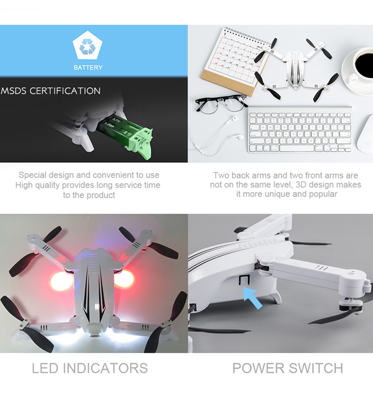 12. T13_White_Foldable_Mini_Selfie_Drone_with_720P_Wide_Angle_HD_Camera