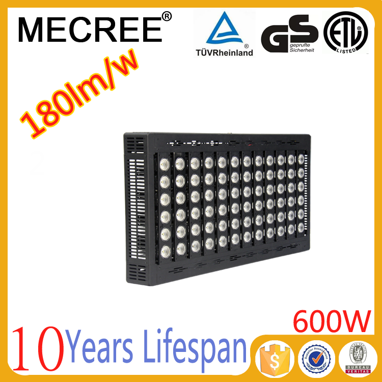 600w high power led spotlight with Premium precise optical lens angle system for Soccer airport lighting