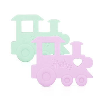 Baby Teething Toys Train teething for kids silicone teether pendant for baby