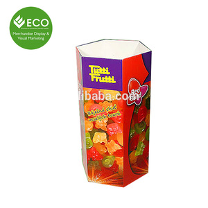 Colorful Printed Potato Packaging Cardboard /Cardboard Paper Display Candy Dump Bin for Supermarket