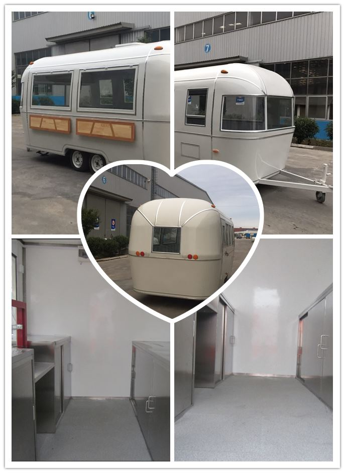 Classic mobile barbecue food trailer for sale
