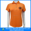 Cheap high quality Custom wholesale women orange polo shirt
