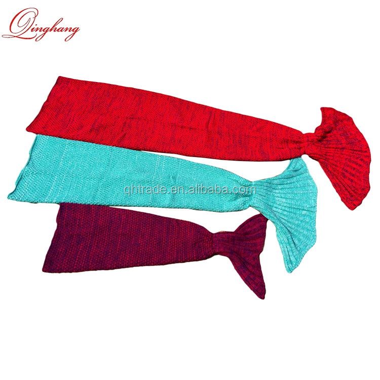 Fashion 10 colors S/M/L Knitted Mermaid Tail Blanket Wraps Baby Kids Adults All Available Sofa Sleeping Bags Wholesale