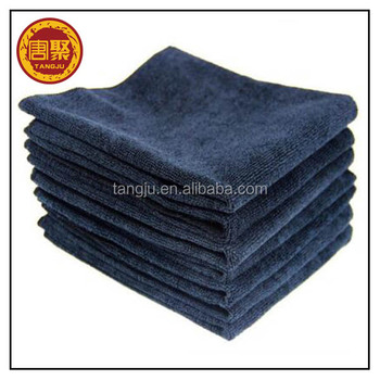 High Quality China Supplier Wholesale Car Microfiber Cleaning Towel 300gsm 40*40cm Black Car Wash Microfiber Cleaning Cloth