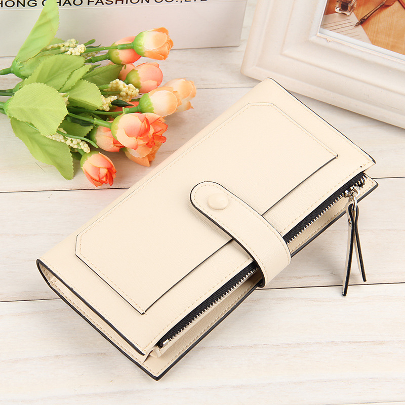 Baellerry pu leather manufacturer for ladies Korean style with metal clasp wallet purse