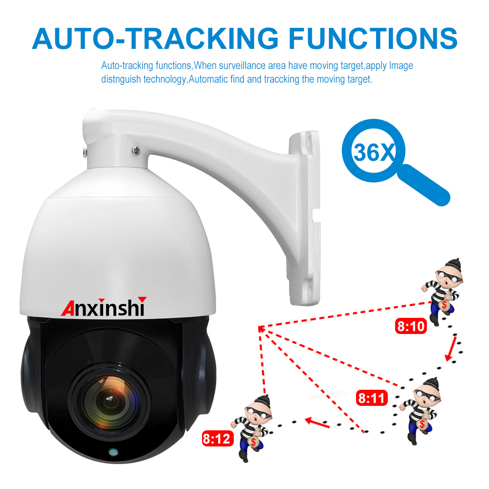 Sony IMX335 Full Color Super low illumination IR 5mp Auto tracking PTZ cctv Camera