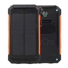 20000mAh Cargador Portatil de Panel Solar Impermeable Power Bank Bateria Externa con 2 LED lamparas para Smartphones