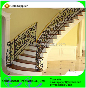 Wholesale Wrought Iron/metal Stairs Railings Design With Scrolls ...