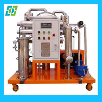 commercial vaccum engine oil filtering/stainless steel vacuum waste oil recycling technology