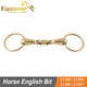Golden Brass Ring Snaffle Horse English Bit